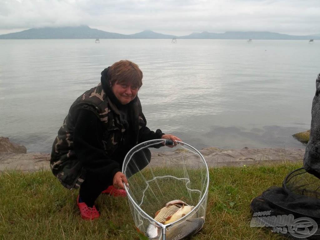Judit ügyes (hölgy)horgász, dobogóra horgászta magát