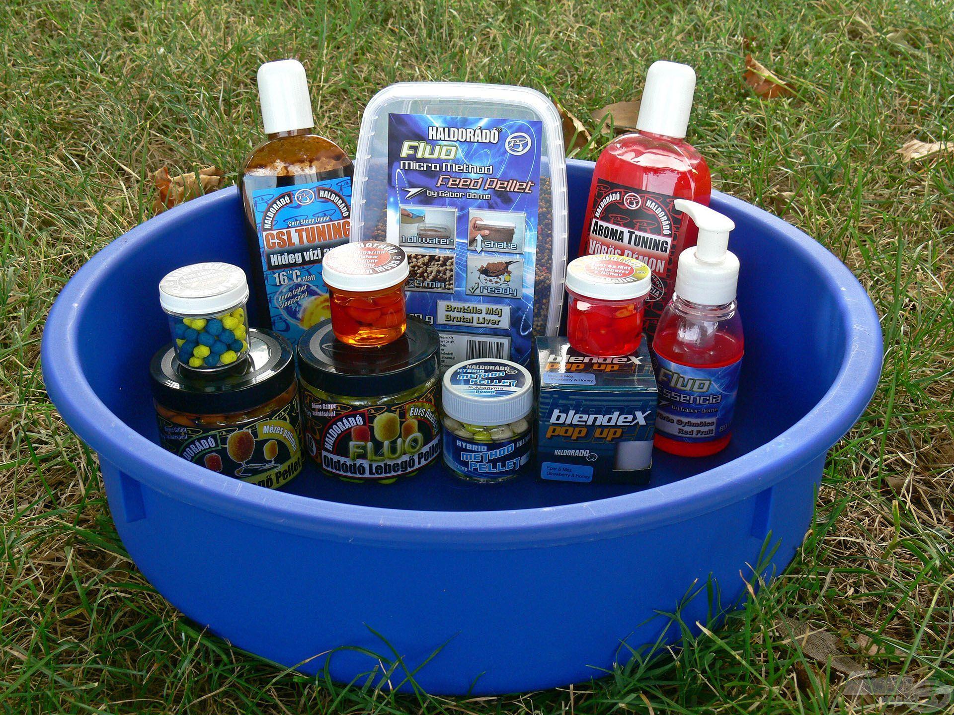 A tálca tökéletes megoldást kínál különféle csalik, aromák, illetve akár bekevert etetőanyagok tárolásához