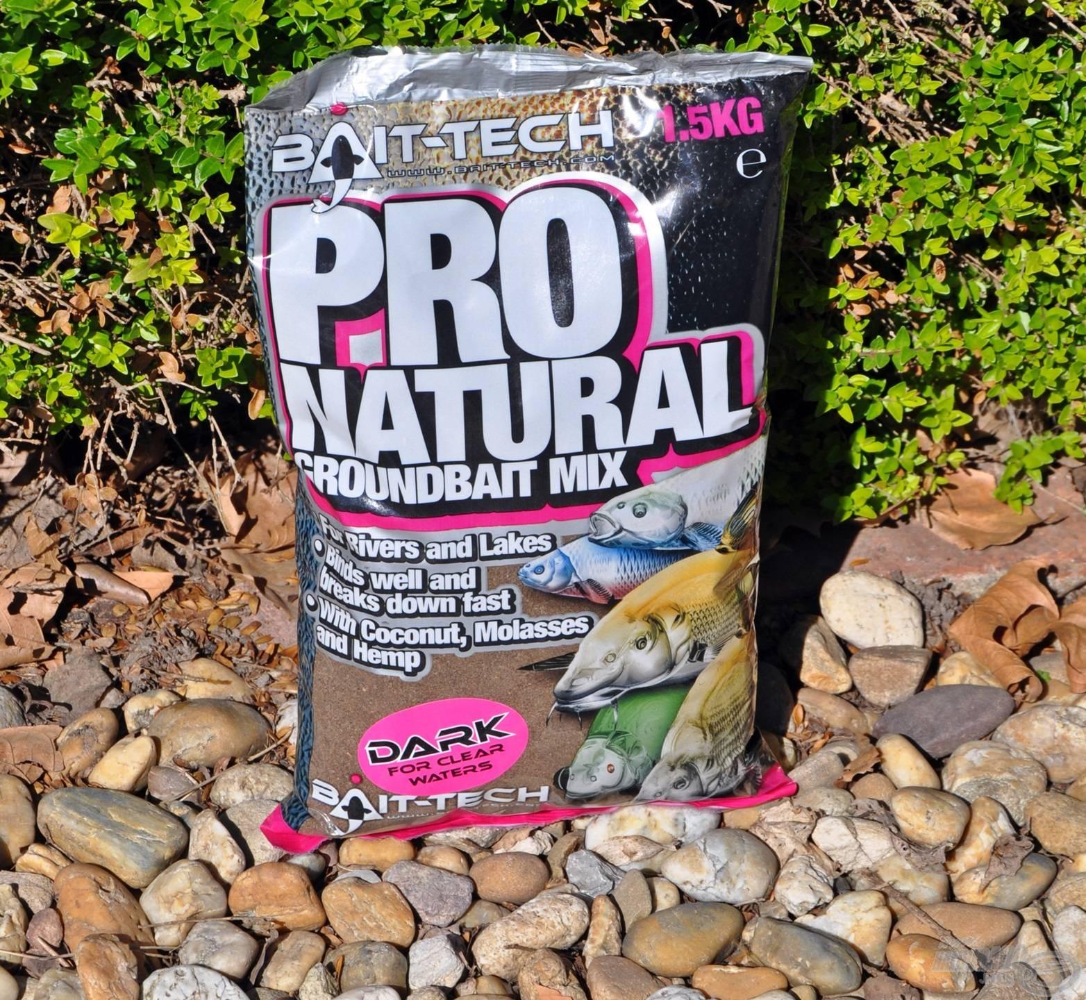 Természetes színanyaggal sötétített Pro Natural etetőanyag hideg vizekre
