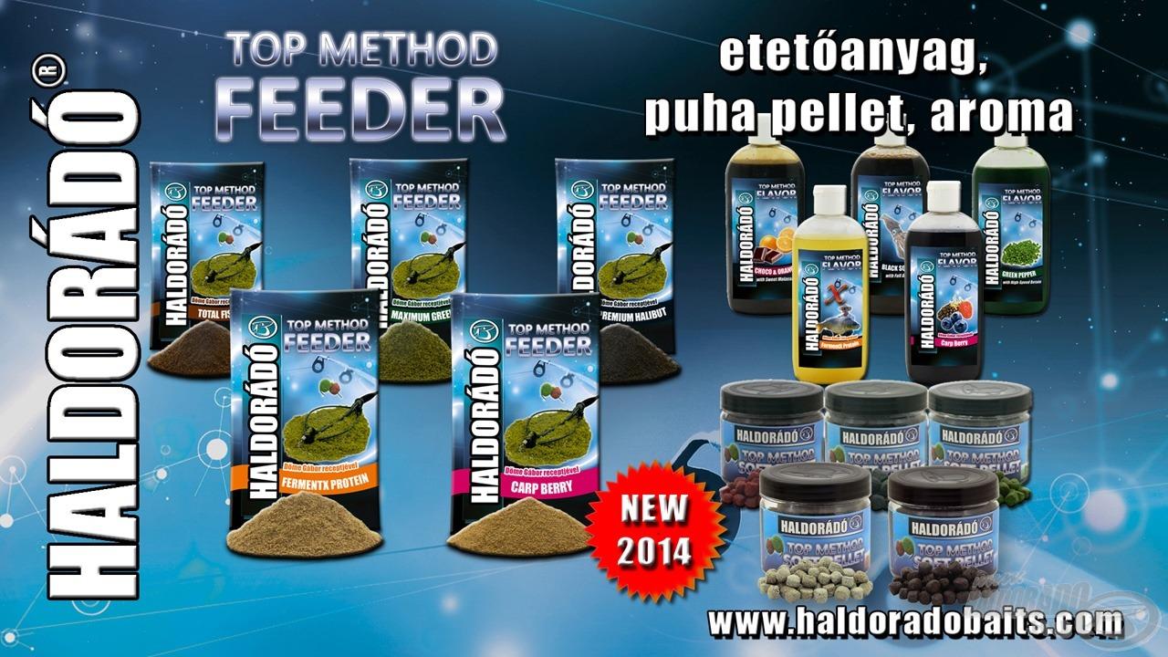 A Top Method Feeder termékek a Haldorádó paletta csúcsminőségű termékei
