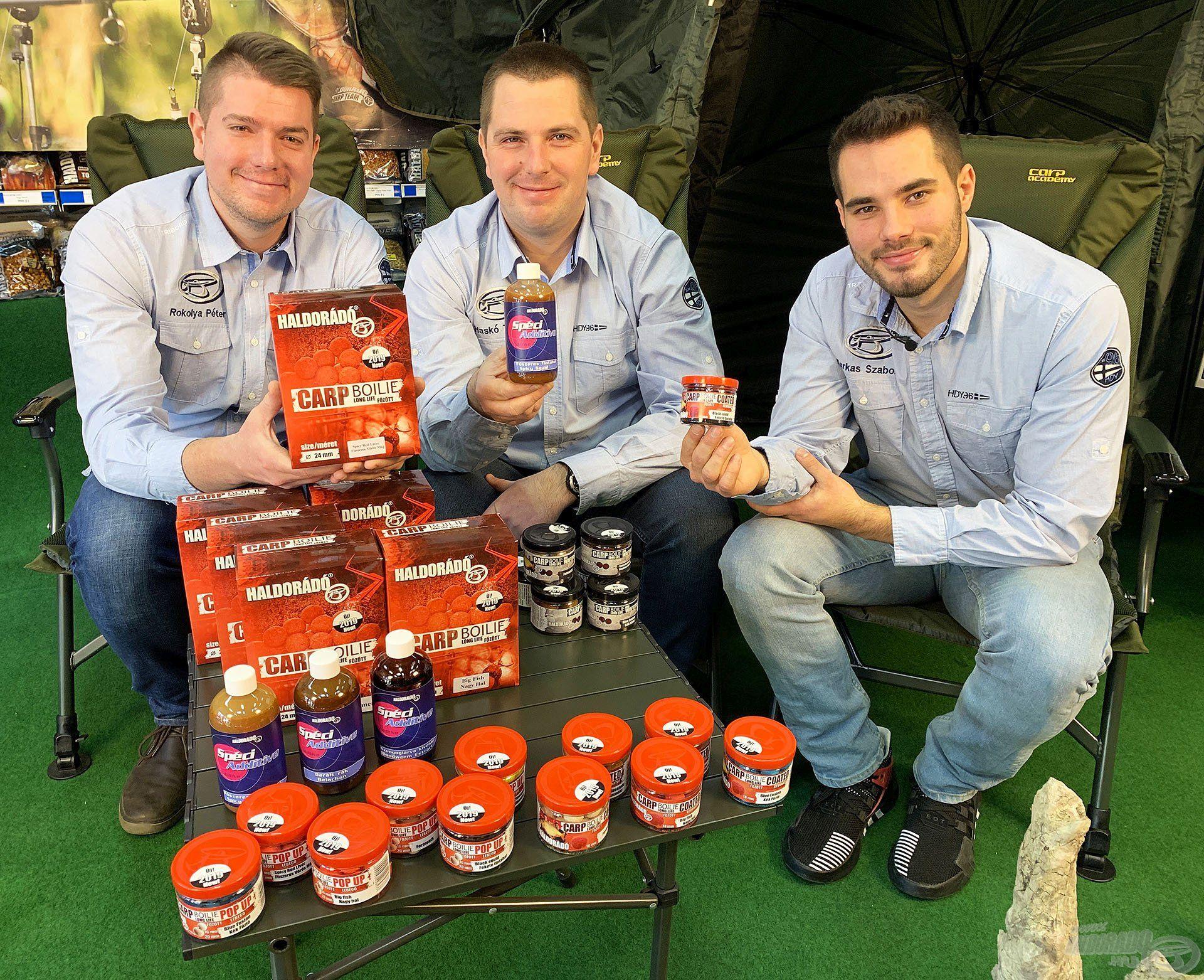 A Haldorádó Carp Team sem tétlenkedett az elmúlt év során, a csapat három jeles tagja, Haskó Tamás, Farkas Szabolcs és Rokolya Péter gőzerővel dolgozott a nagypontyos termékvonal fejlesztésén