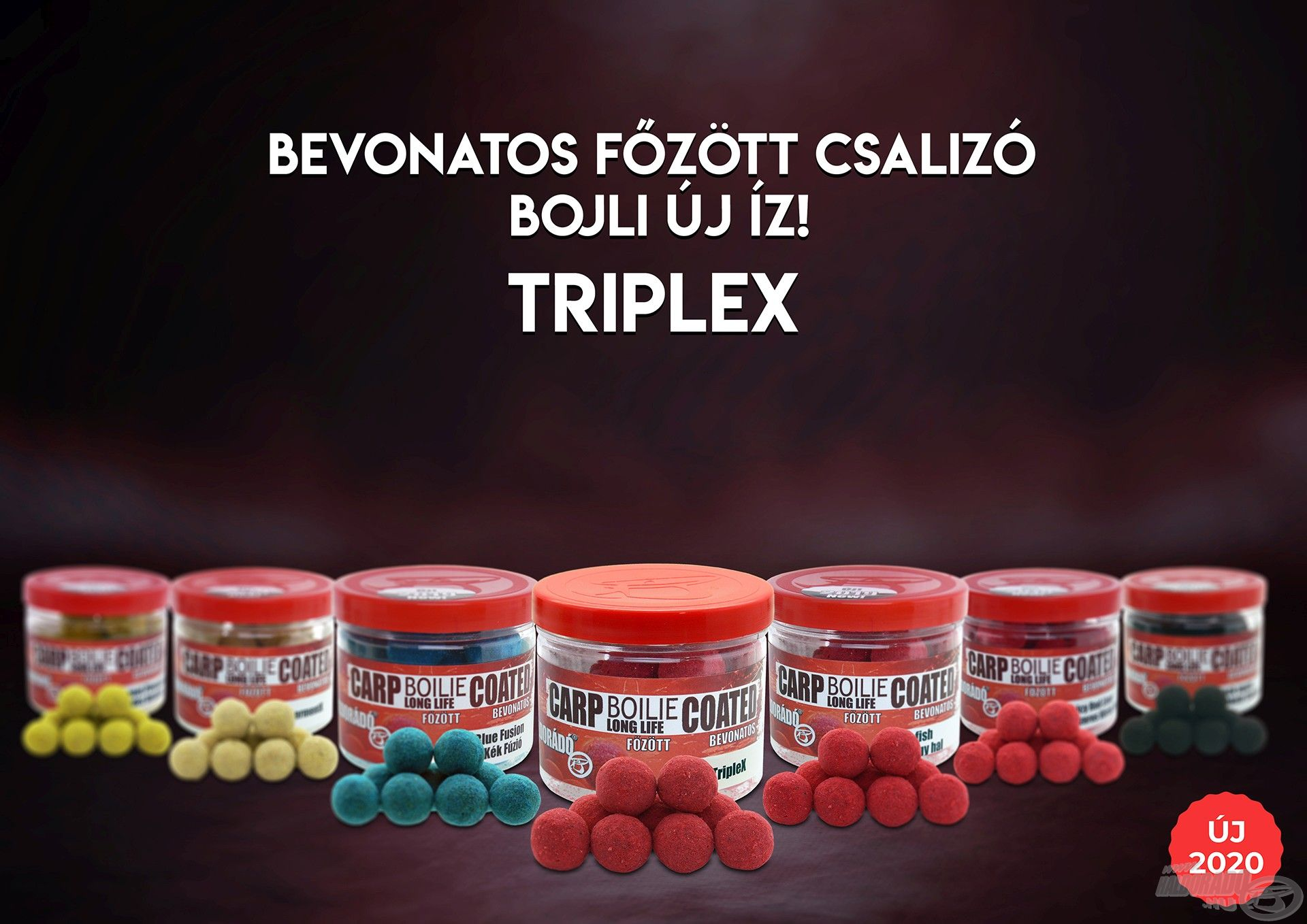 """A Carp Boilie termékpalettán a speciális csalizó bojlik is megtalálhatók, immár a """"Bevonatos TripleX"""" is!"""