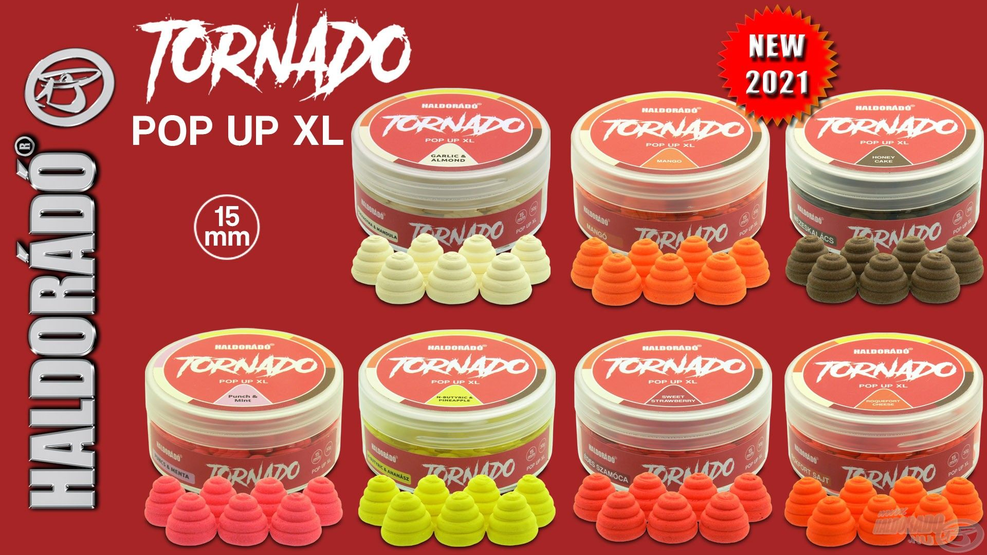 Büszkén mutatjuk be 2021-es fejlesztéseink közül a TORNADO Pop Up XL csalikat!