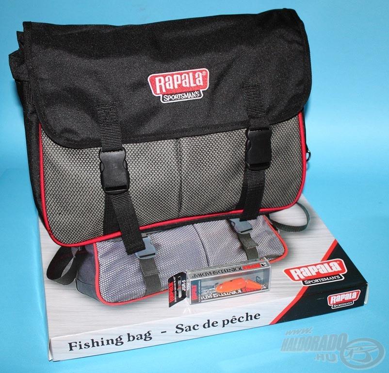 A Rapala Sportman's pergető táska azok számára ajánlott, akik közepes mennyiségű csalival szeretik nyakukba venni a vízpartot, de a fontos kiegészítőket azért kézközelben akarják tudni