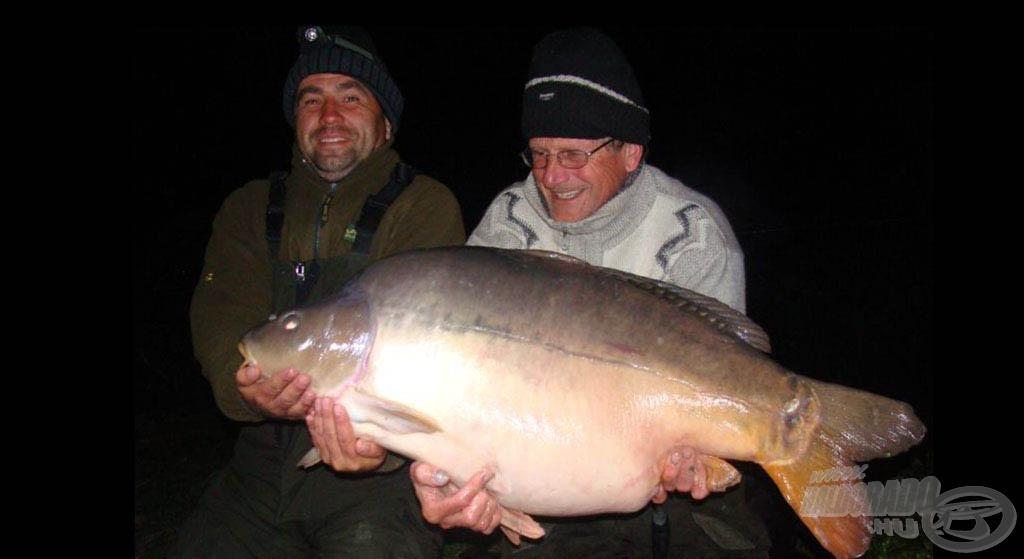 A jelenlegi tórekord tükörponty, amelynek pontos súlya 26,34 kg!