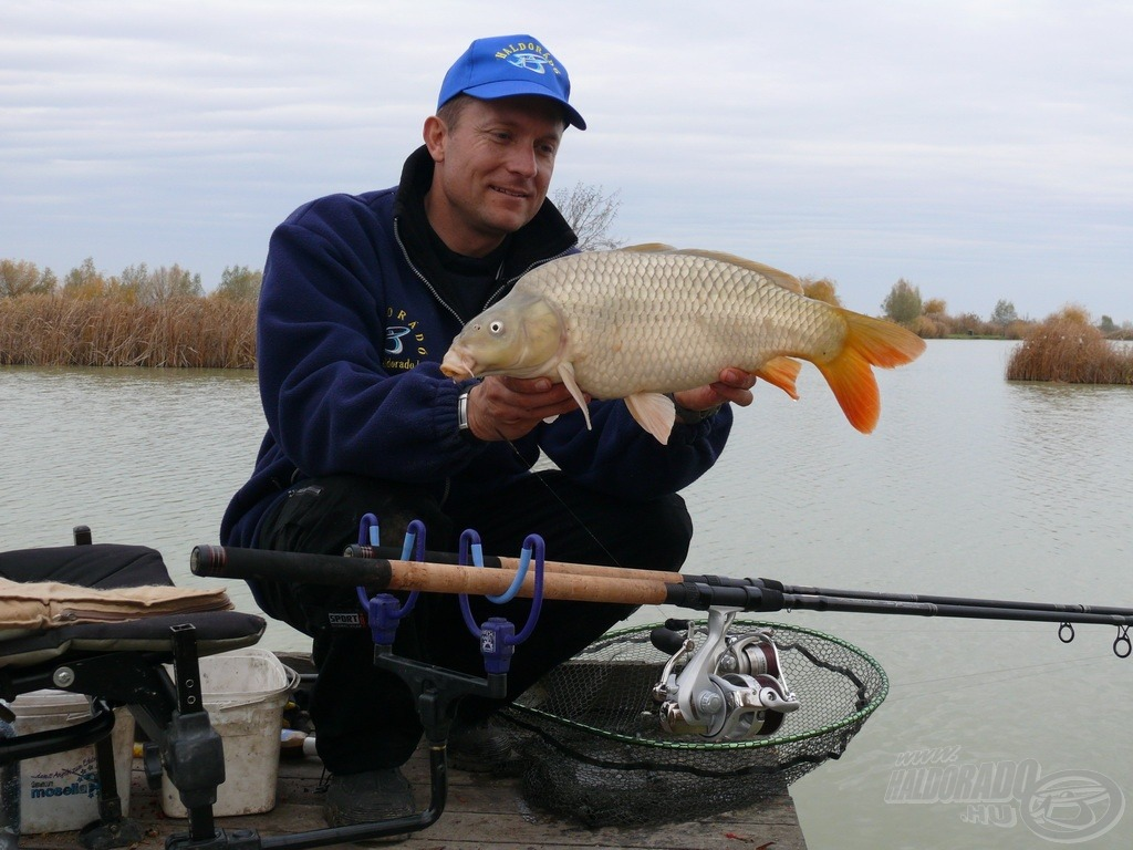 Nagyon mozgalmas és élménydús volt ez a horgászat, hiszen a nap folyamán összesen 15 db halat fogtam, amelyeket a mérlegelésük és fotózásuk után azonnal visszaengedtem