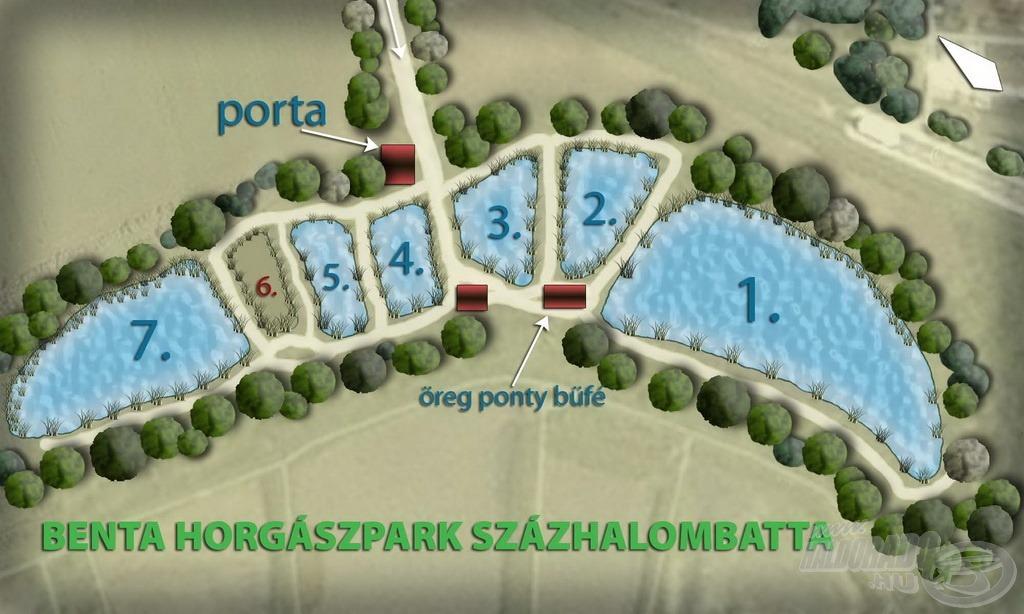 A tavak számozása így már jól nyomon követhető (forrás: www.bentahorgaszpark.hu)