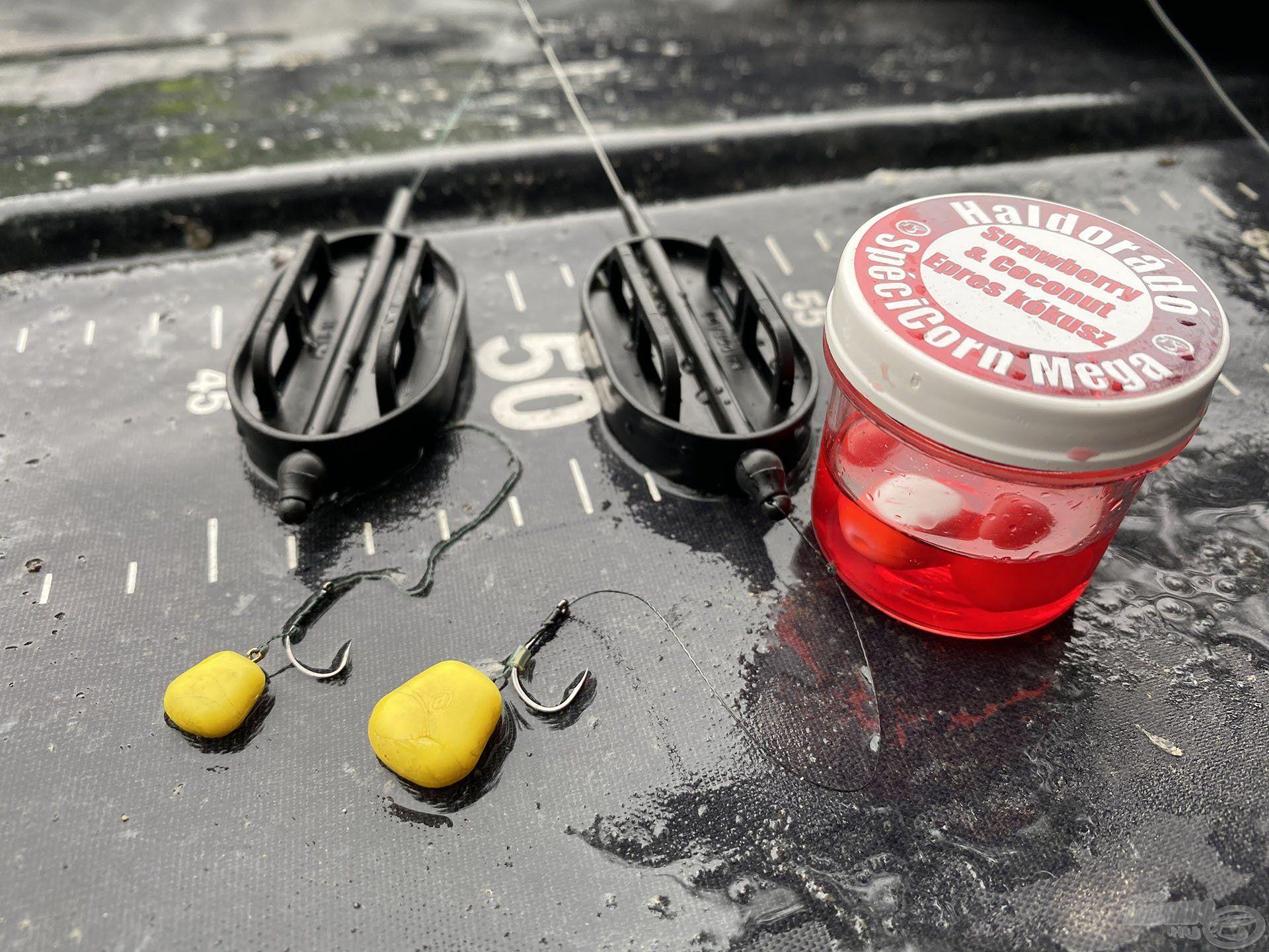 Kezdetben elegendő volt a kisebb gumikukorica, de amikor már ezt is felvették a nemkívánatos halak, jött a Mega méret
