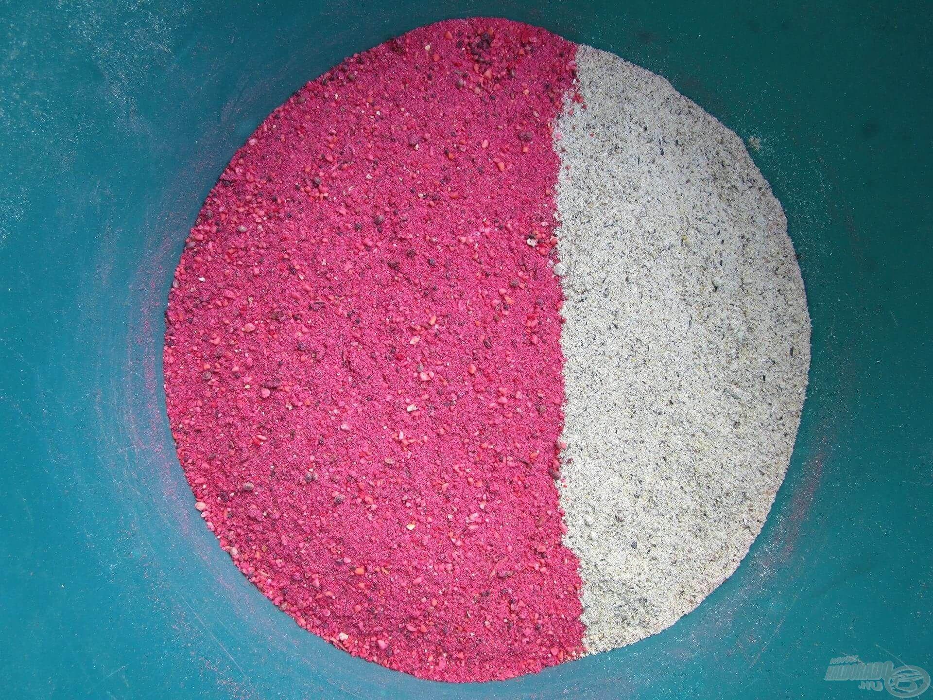 A Ponty Piros etetőanyagot kiegészítettem némi olajos mag, szőlőcukor és panírmorzsa őrleményével