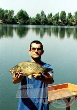 Nem a méretes pontyok jellemezték a horgászatot, de azért egyet mégiscsak sikerült elcsípnünk