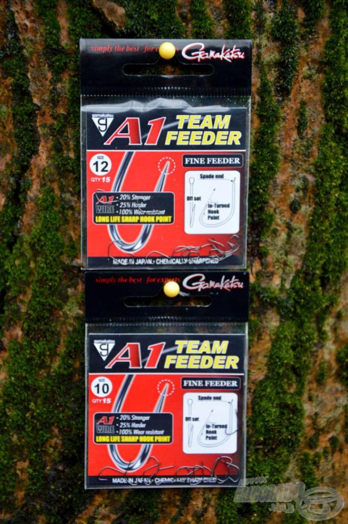 Az A1 Team Feeder Fine Feeder horgok a pillekönnyű csalifelkínálás hatékony eszközei