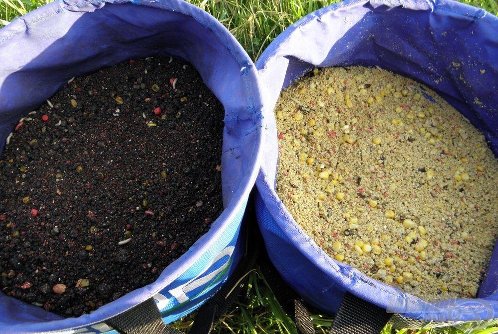 Pelletes Fekete tuning etető és az előző nap sztárja, a Vad Ponty etetőanyag