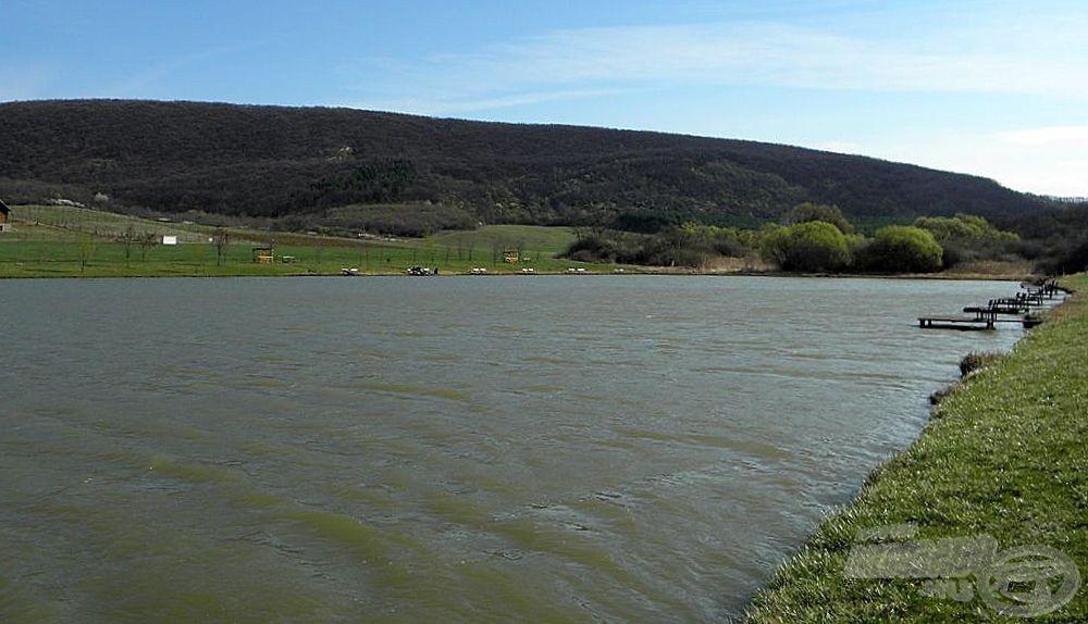 A tópart tőlem balra