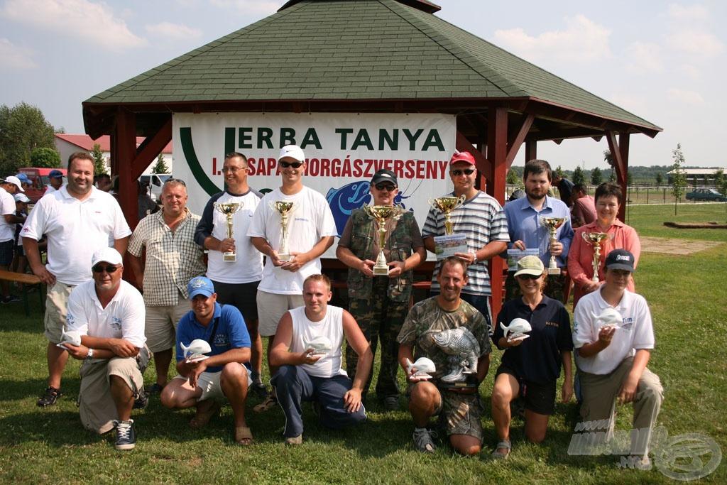 A 2008-as I. Verba tanya páros horgászkupa díjazottjai