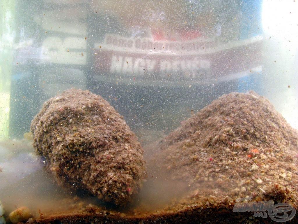 """Optimális vízmennyiséggel keverve erőteljes nyomás után is rendkívül jól oldódik a gombóc, és önmagában is jól """"ködöz"""""""