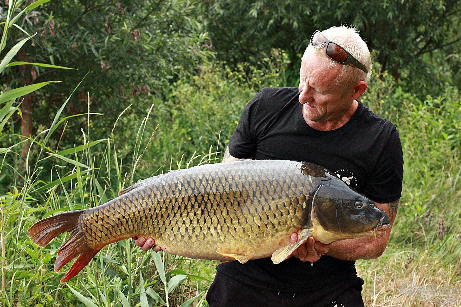 Az egyik 16 kg-os hal az első kapások eredménye volt