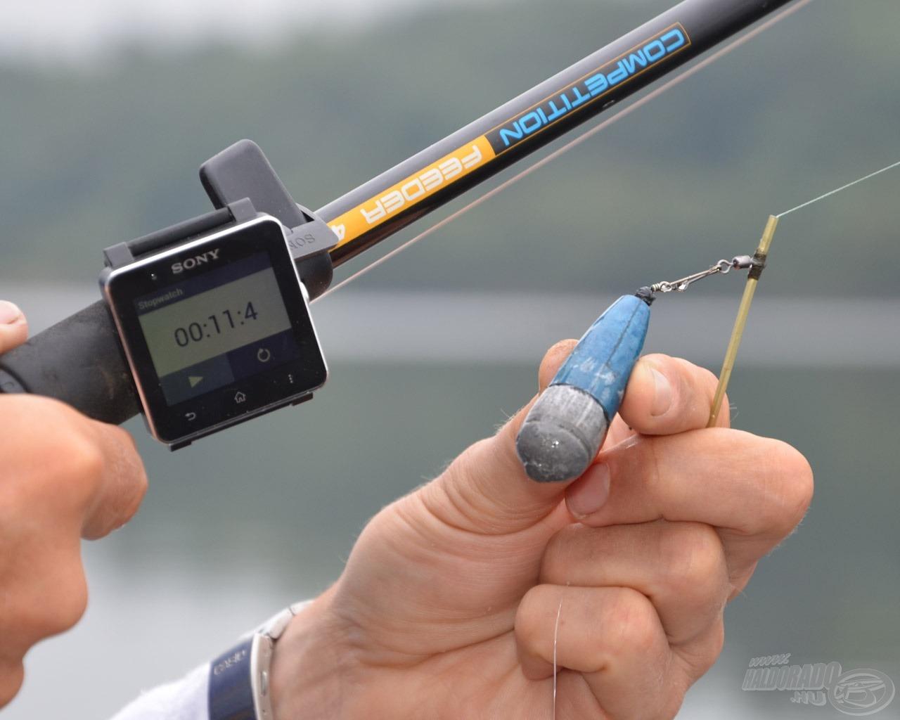 Haldorádó - Cralusso koprodukcióban készült prototípus balanszírozott fenékmérő ólom - 11,4 sec, azaz kb. 11 méter mély víz
