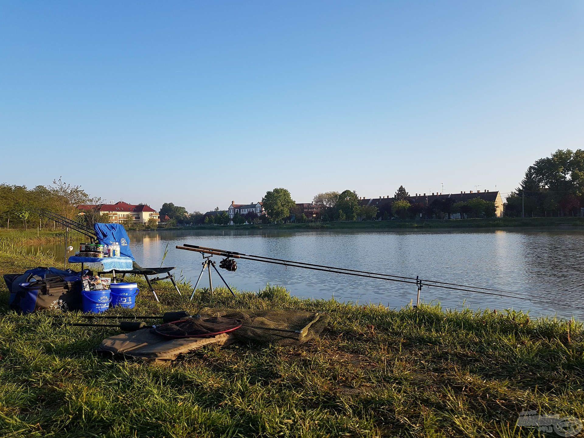 Horgászállásom elkészült, kezdődhet az etetés
