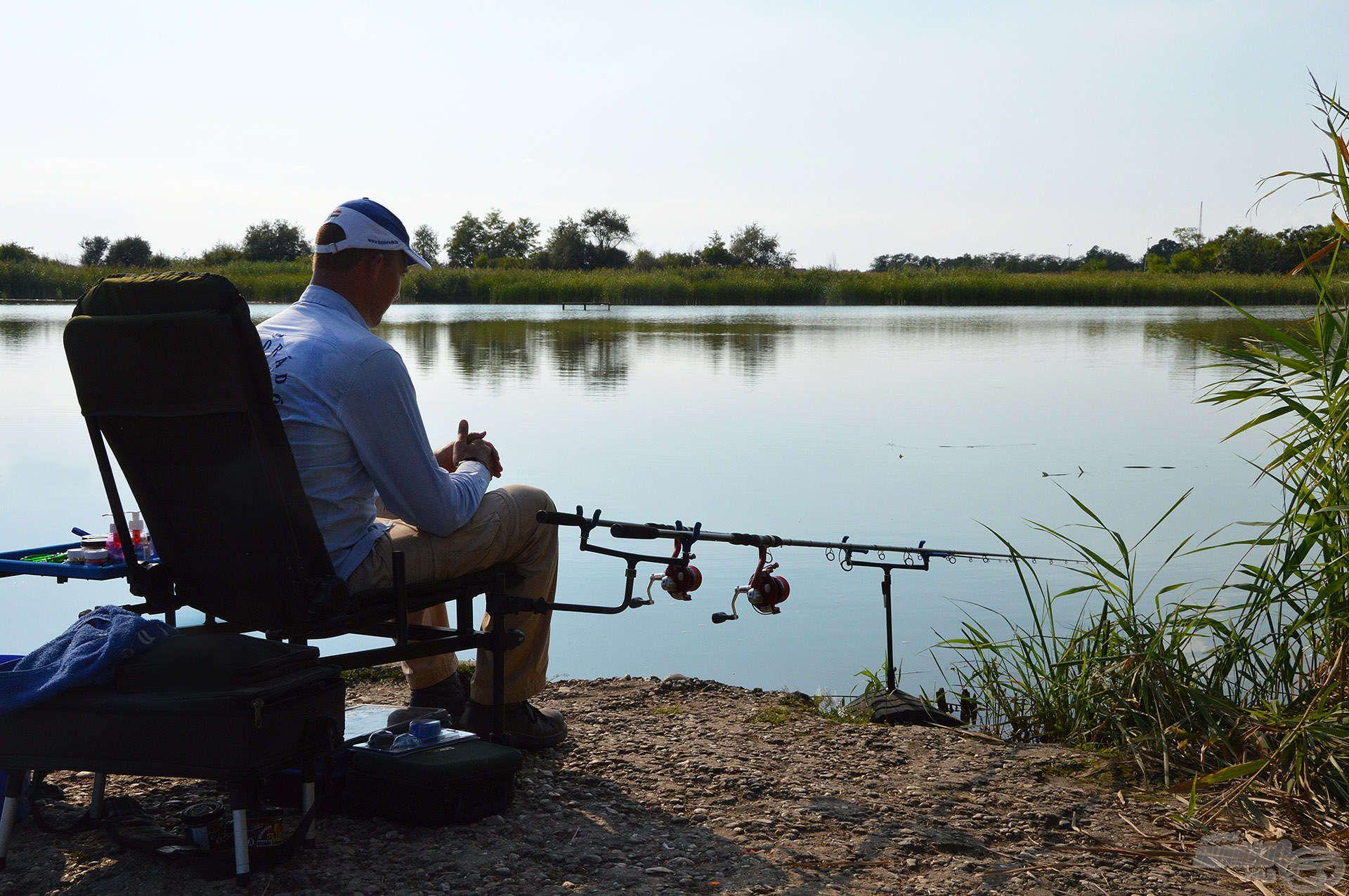 Szép környezetben horgászhattunk, és a kapásokra sem kellett sokat várni