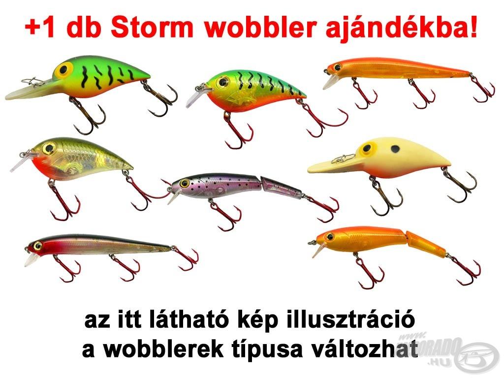 Egy darab Storm wobblert adunk valamennyi akciós Rapala Sportsman's szemüvegek mellé!