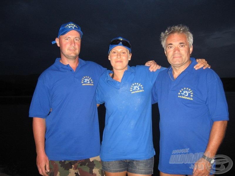 A nagy csapat: párom, édesapám és én