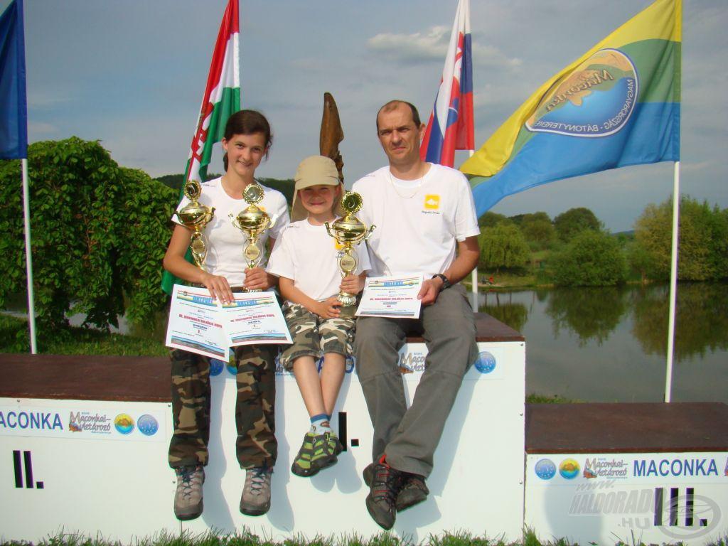 Apa, lánya, fia, 2 versenyző 3 kupa