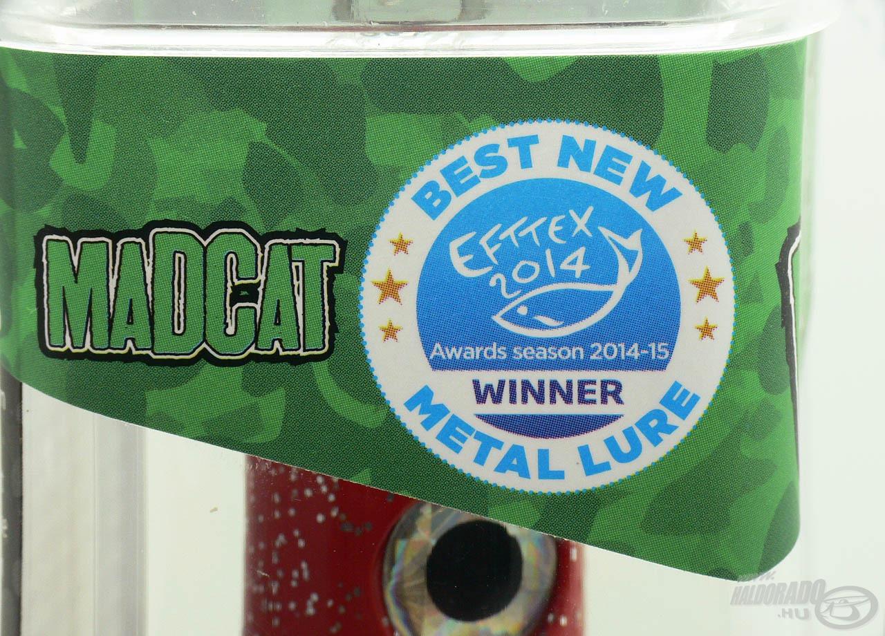 A 2014-es Efttex kiállításon a legjobb fém műcsali kategóriájának győztese