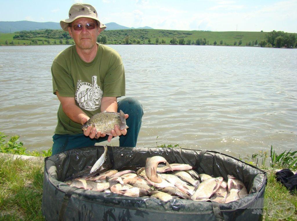 ... és a sikereses horgászat eredménye