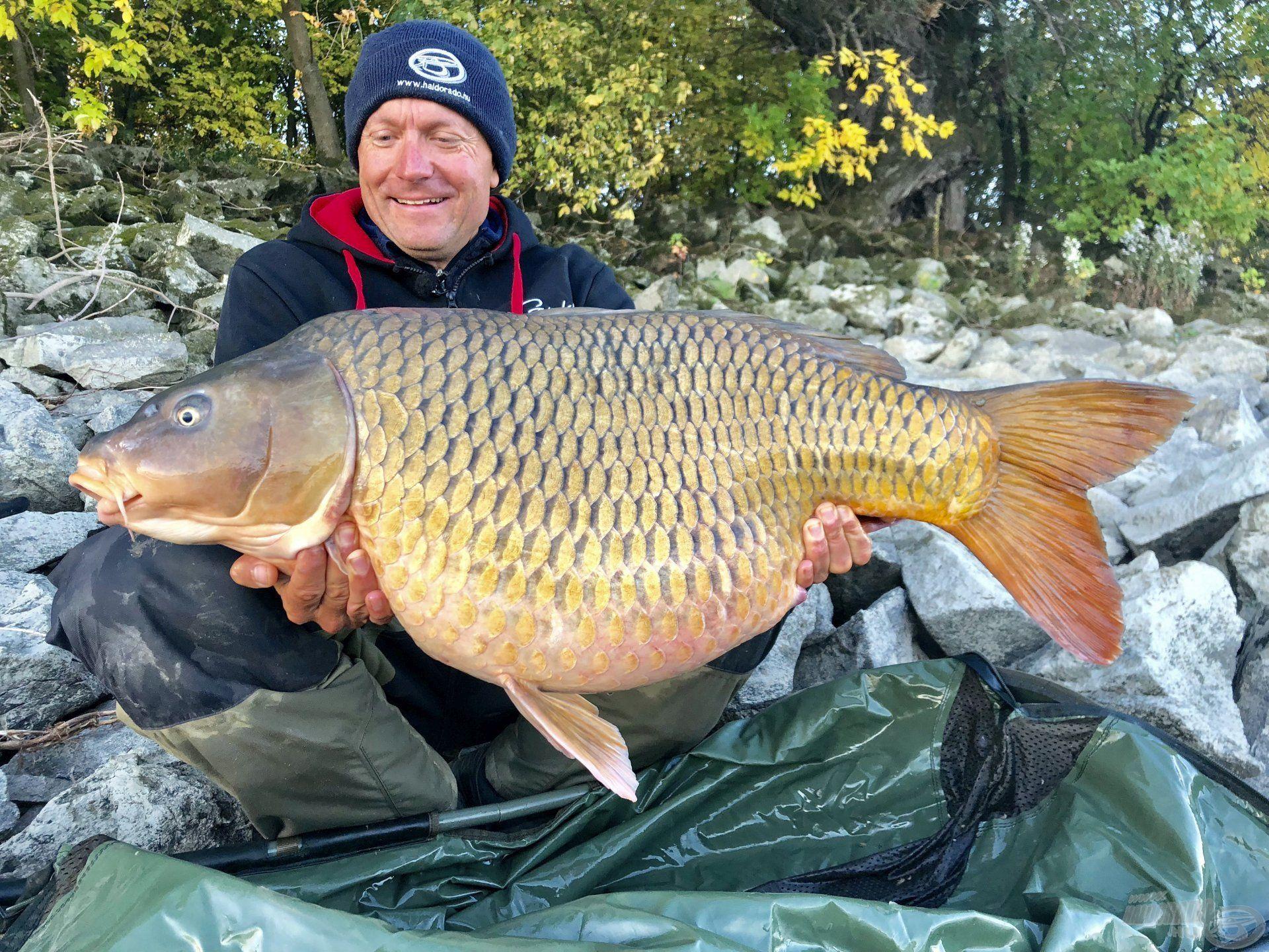 Gábor eredményei magukért beszélnek, számtalan gyönyörű hal díszíti fotóalbumát…