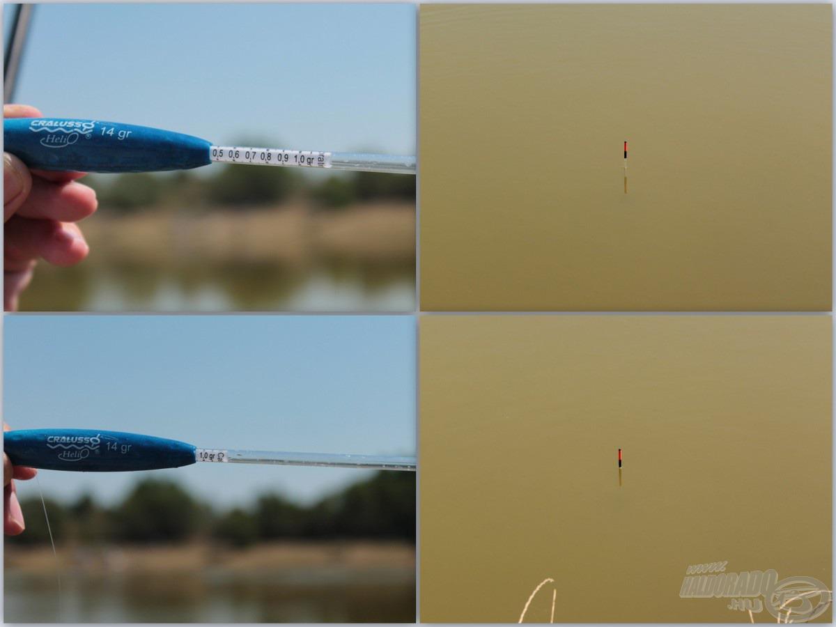 A kalibrációs rendszerrel könnyen, gyorsan tudjuk az úszó pozícióját szabályozni, állítani, akár horgászat közben is!