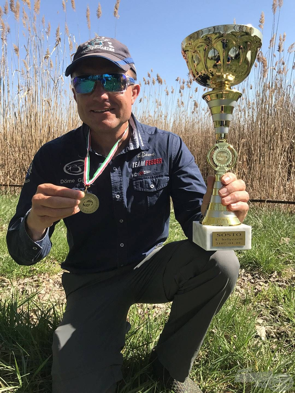 110-120 méterre horgásztam a parttól és a mezőny legtöbb halát fogva nyertem a tavaszi versenyt!