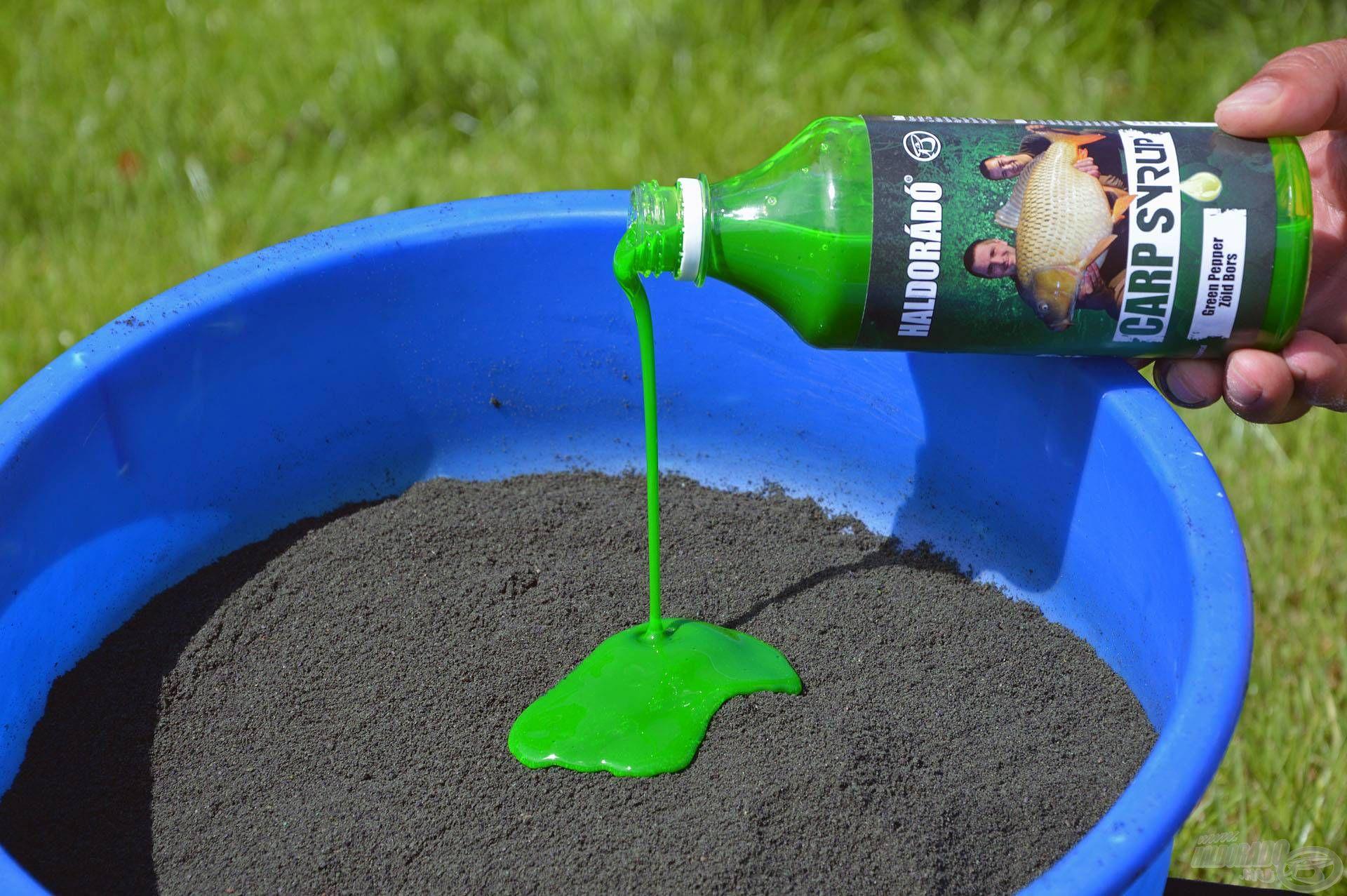 Kiválóan harmonizál a Zöld Bors aromával, így az etetőanyag hatékonysága remekül fokozható némi Carp Syrup hozzáadásával