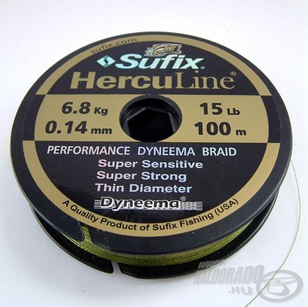 Sufix Herculine rendkívül vékony és nagyon erős fonott, amely néhány dobás után remekül merül
