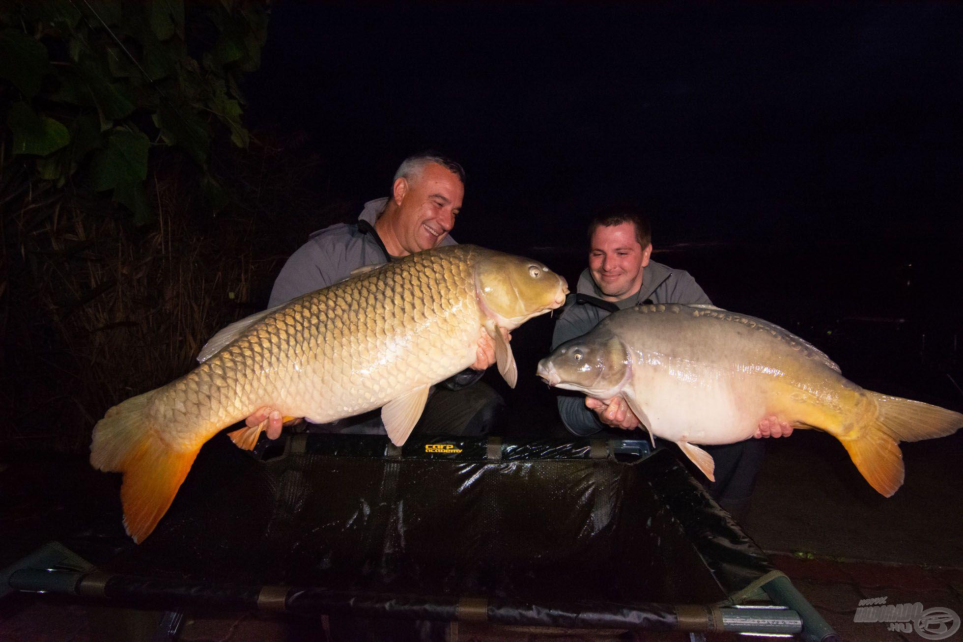 … és Laliéra is, a két hal majd negyven kilogramm