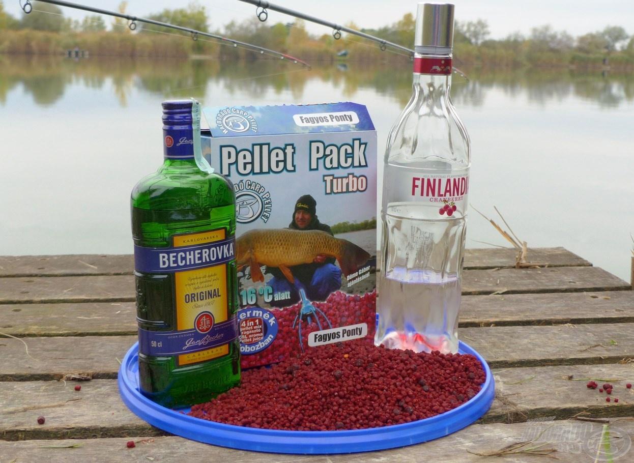 A nagytestű pontyok imádják az alkoholos keverékeket. A Pellet Pack Turbó Fagyos Ponty pellet mix tökéletesen magába szívja az alkoholt, majd fokozatosan árasztja ki azt magából. Egy doboz Pellet Packhoz maximum 2 dl alkohol és 0,5-1 dl víz keverhető a csomagolásban található 1 dl CSL Tuning Hideg Vízi Aroma és az 1 dl Pellet Juice mellé. Az arányok változhatnak, de ügyeljünk rá, hogy a száraz pellet szemekre 4 dl-nél több folyadék ne kerüljön, illetve ebből legalább 0,5 dl víz legyen