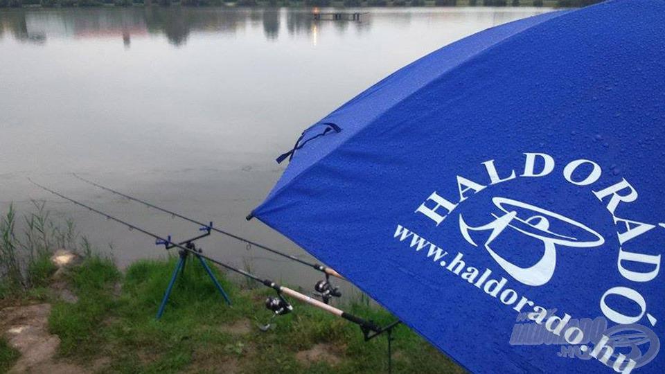Egy stabil horgászernyő megvéd akár a legnagyobb esőtől is