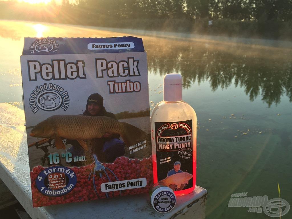 Hideg vízi horgászatok elengedhetetlen etetőanyaga a Pellet Pack - Fagyos Ponty. Nagyon szeretem kiegészíteni Nagy Ponty aromával. Érdekesség, de a sok édes ízvilágú csali ellenére a legtöbb kapást ennél az etetőanyagnál is a Fokhagymás SpéciCorn jegyezte nálam