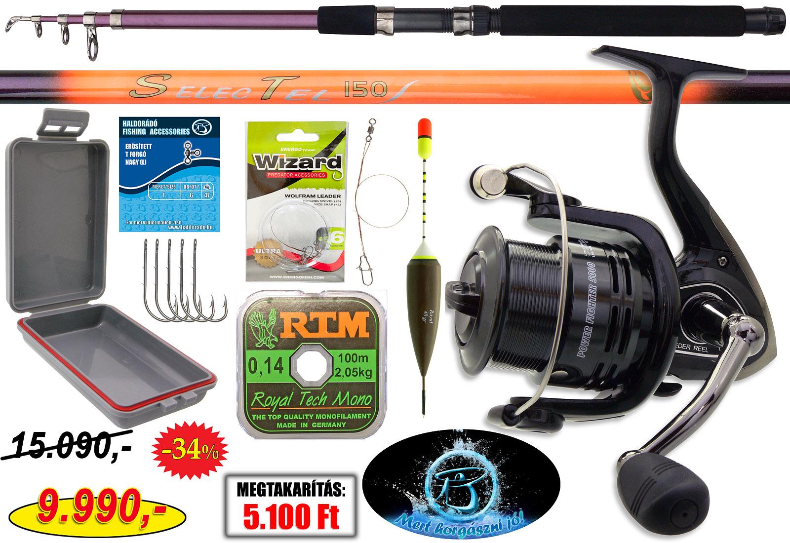 Az úszós rablóhal horgászatot kedvelők számára egy kedvező árú, tökéletes alternatíva ez a szett!
