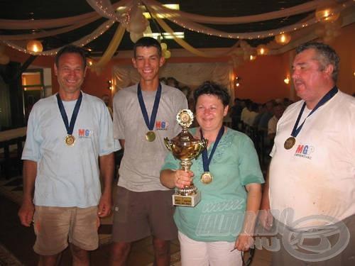A győztes MGP Obrenovac horgászai voltak a legvidámabbak…