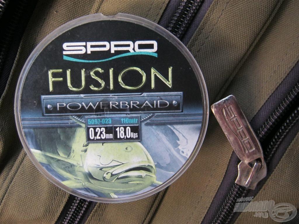 … dobóelőkének pedig az általam régóta használt Spro Fusion Powerbraidet