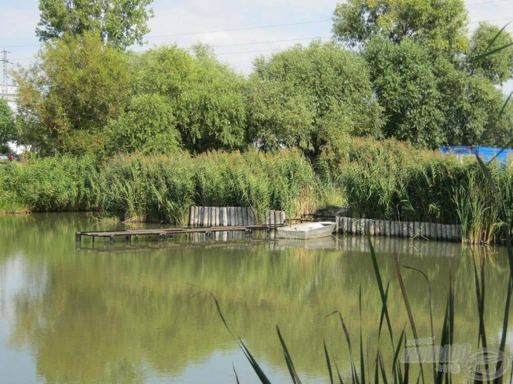 A tó déli részén megcsinálták a helyet a kajakosoknak…
