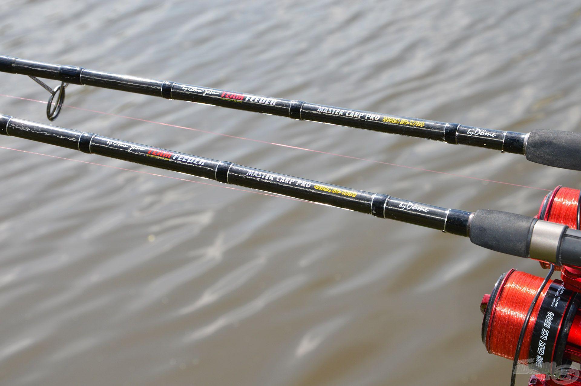 Felszereléseinket a távoli, pontos dobásokhoz és a termetes, erős halakhoz igazítottuk, amihez tökéletesek voltak a TEAM FEEDER LC botok…