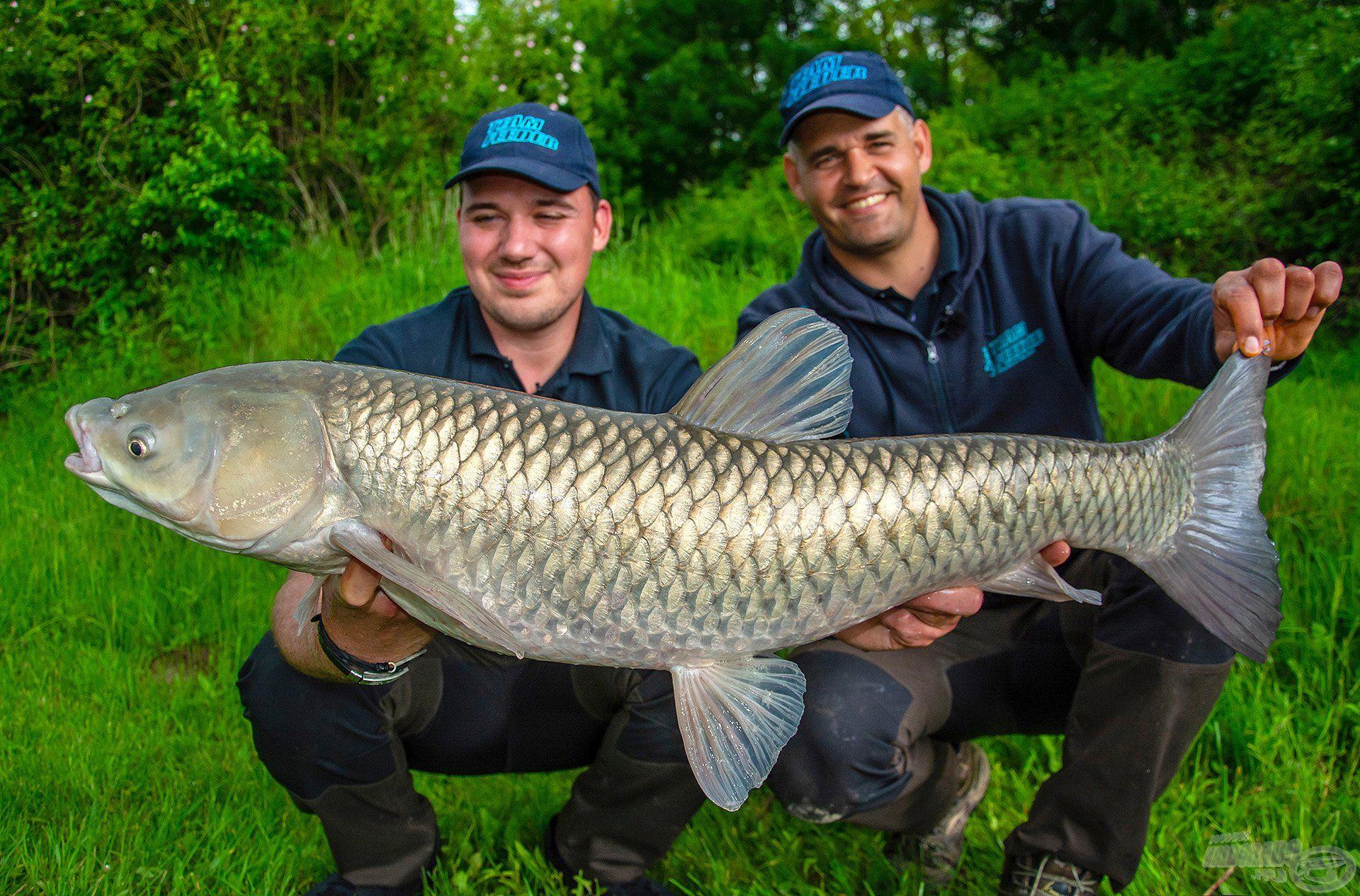 Nagyon örültünk neki, ráadásul ez a példány a horgászat legnagyobb amurja lett!