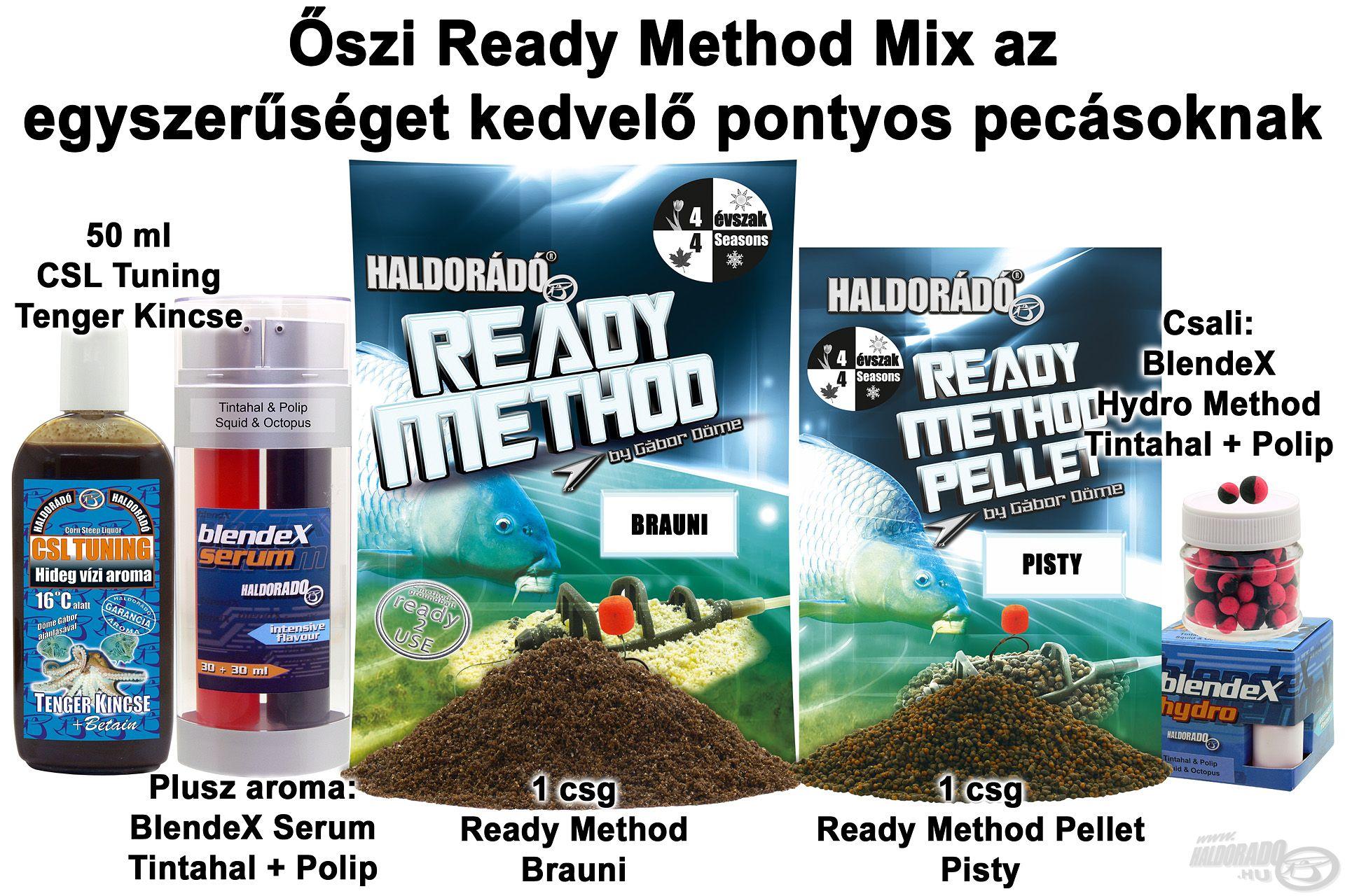Őszi Ready Method Mix az egyszerűséget kedvelő pontyos pecásoknak