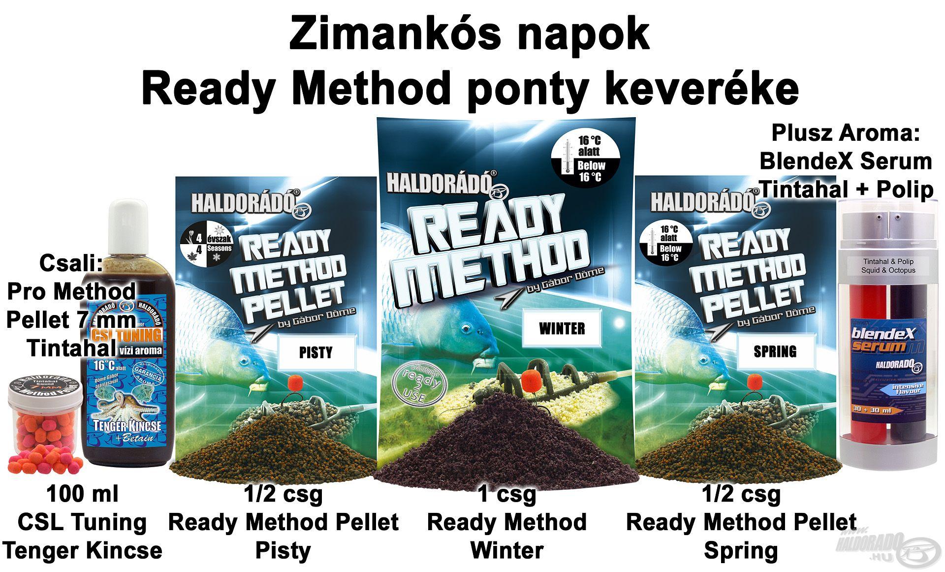 Zimankós napok Ready Method ponty keveréke