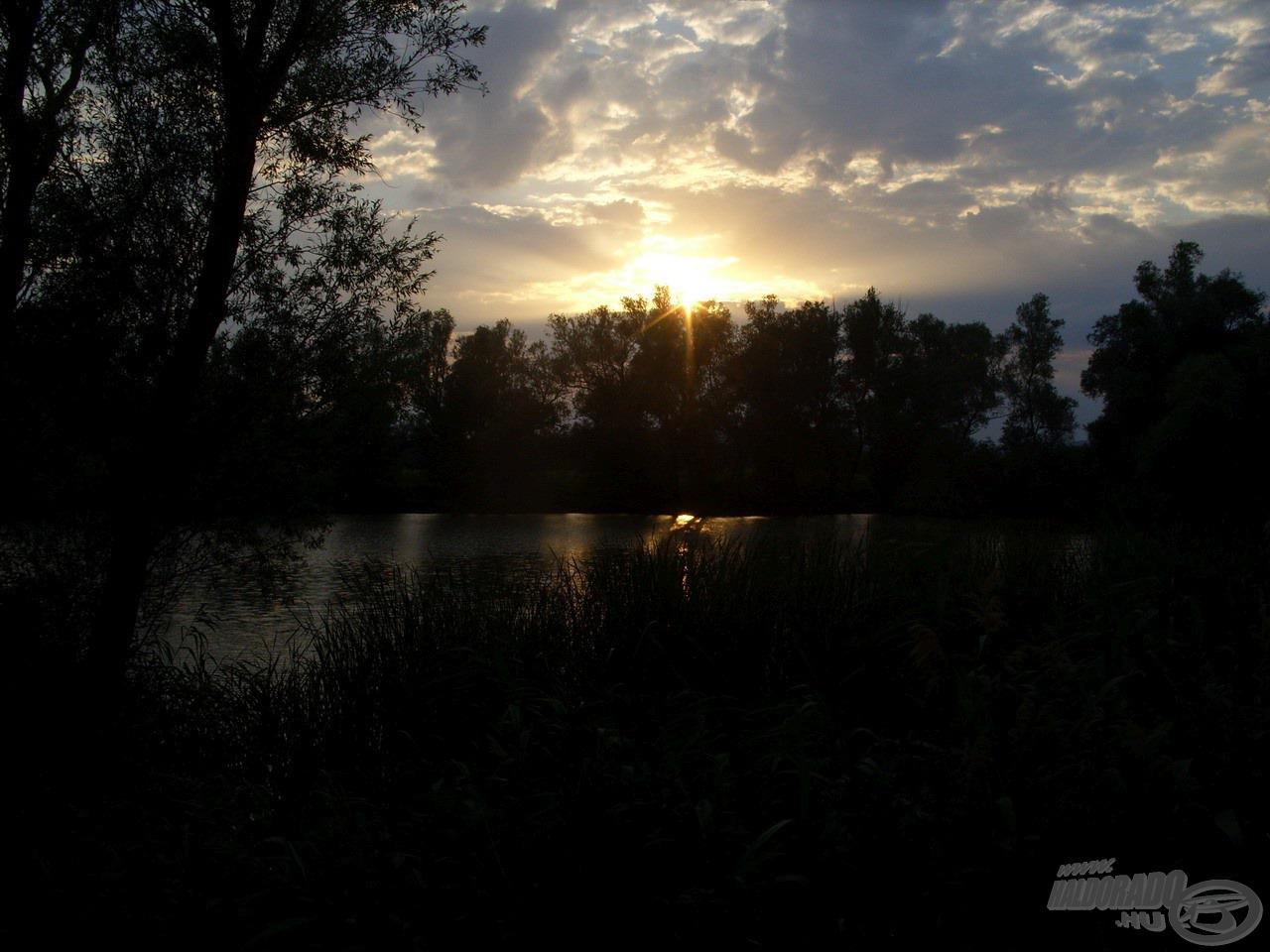 A rendületlenül tüzelő nap hamarosan lebukott a túlparti fák koronája mögött. Nagyon reménykedtem az előttem álló éjszakában…