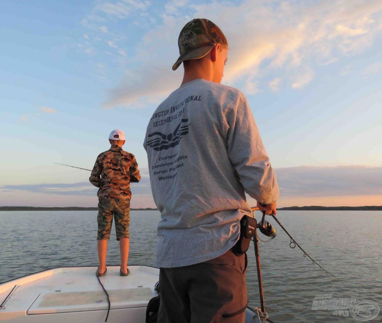 Esti horgászat nélkül nem telhet el hét