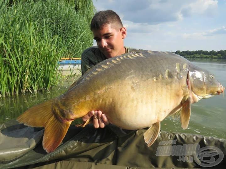 Krisz másik termetes hala, mely 12,8 kg-osnak bizonyult