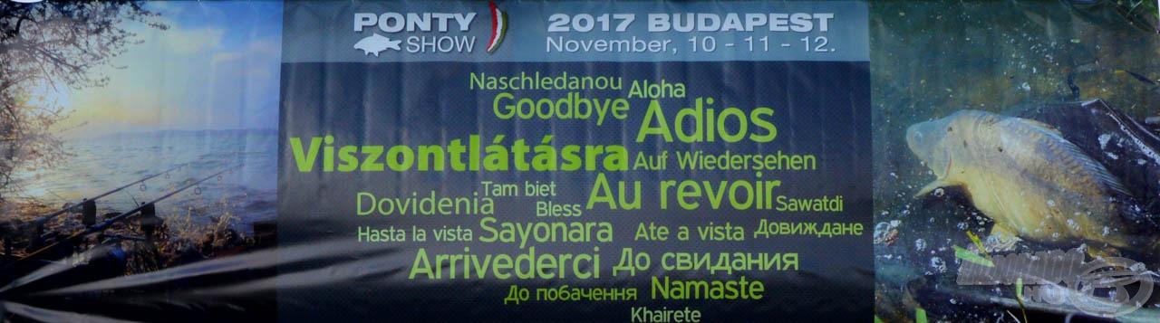 Találkozzunk legközelebb Kiskunhalason, a Haldorádó Centrumban, a XI. Haldorádó Pontyhorgász Napokon, 2017. február 3-4-5-én!