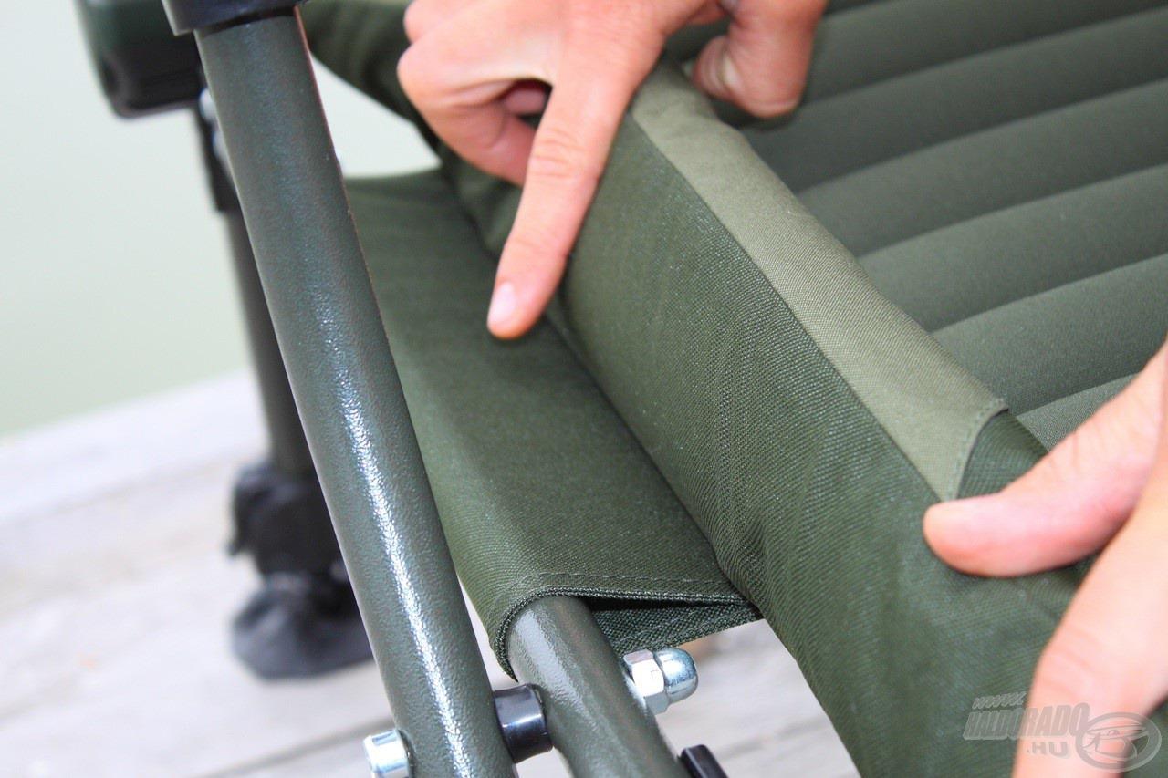 … és az ülőfelületen is, így téve a széket igazán erőssé!